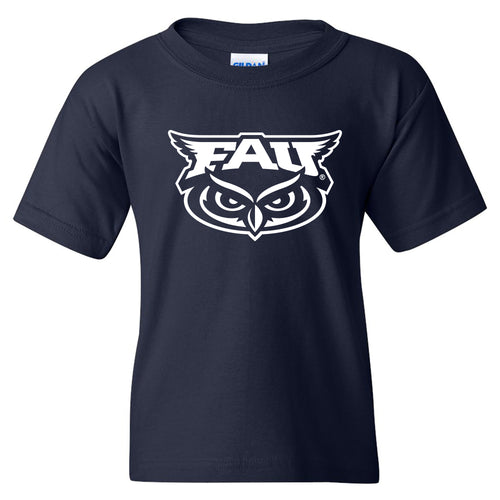 Florida Atlantic University Owls Primary Logo Youth Short Sleeve T Shirt - Navy