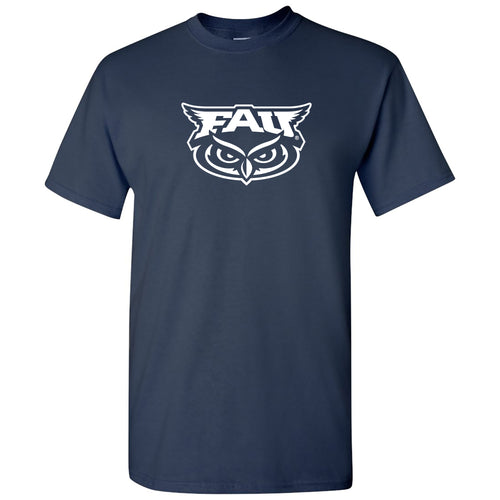 Florida Atlantic University Owls Primary Logo Short Sleeve T Shirt - Navy