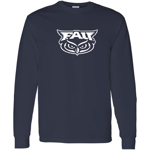Florida Atlantic University Owls Primary Logo Long Sleeve T-Shirt - Navy