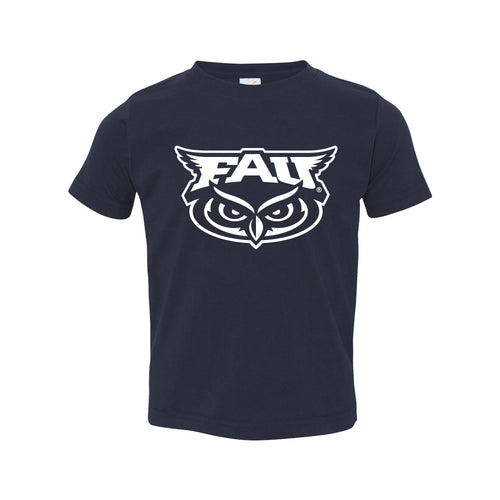 Florida Atlantic University Owls Primary Logo Toddler Short Sleeve T Shirt - Navy