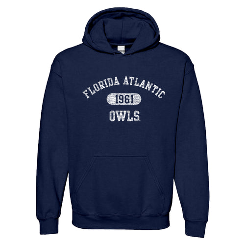 Florida Atlantic University Owls Athletic Arch Heavy Blend Hoodie - Navy