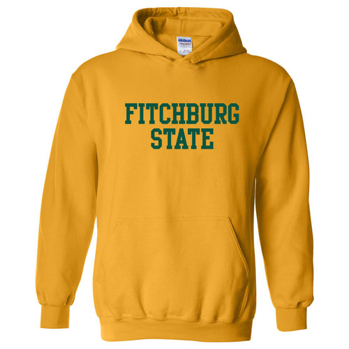 Fitchburg State University Falcons Basic Block Hoodie - Gold