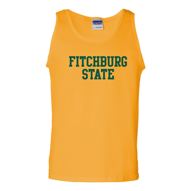 Fitchburg State University Falcons Basic Block Tank Top - Gold