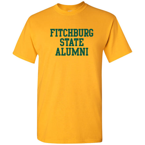 Fitchburg State University Falcons Alumni Basic Block Short Sleeve T Shirt - Gold