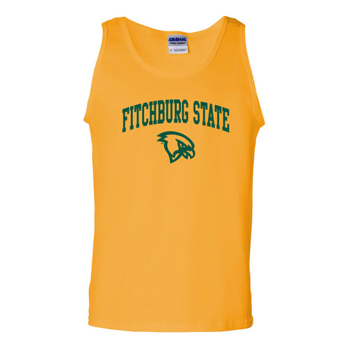 Fitchburg State University Falcons Arch Logo Tank Top - Gold