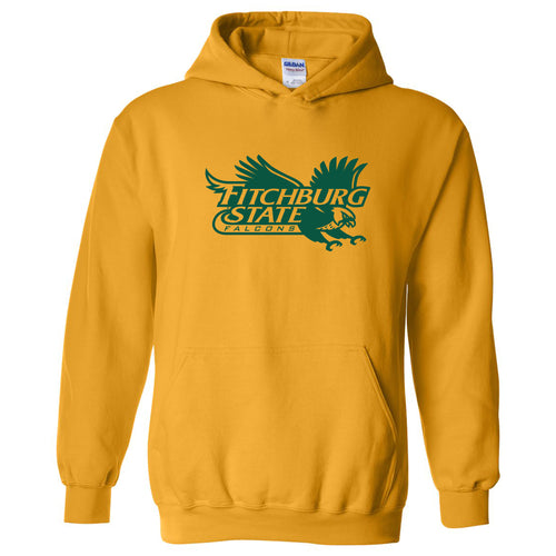 Fitchburg State University Falcons Primary Logo Hoodie - Gold