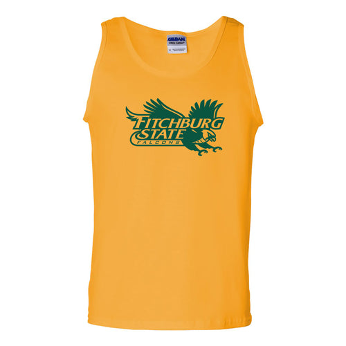 Fitchburg State University Falcons Primary Logo Tank Top - Gold