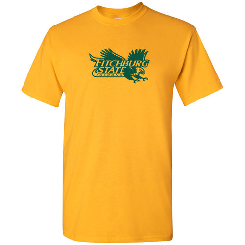 Fitchburg State University Falcons Primary Logo Short Sleeve T Shirt - Gold