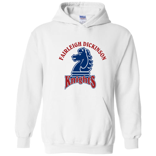 Fairleigh Dickinson University Knights Arch Logo Heavy Blend Hoodie - White