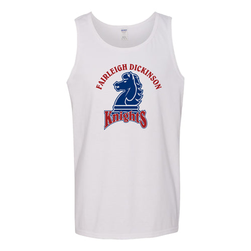 Fairleigh Dickinson University Knights Arch Logo Heavy Cotton Tank Top - White
