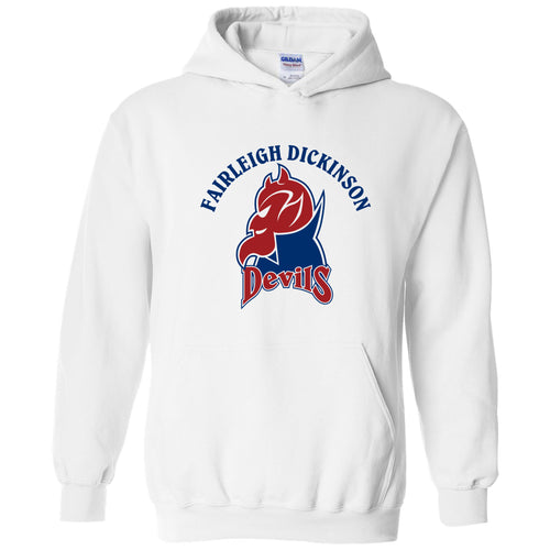 Fairleigh Dickinson University Devils Arch Logo Heavy Blend Hoodie - White