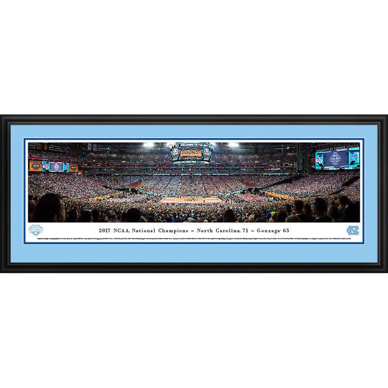 2017 NCAA Basketball Champions - University of North Carolina - Deluxe Frame
