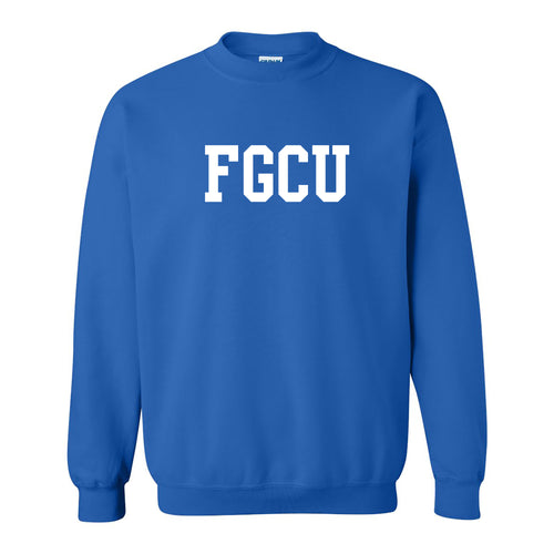 Florida Gulf Coast University Eagles Basic Block Crewneck - Royal