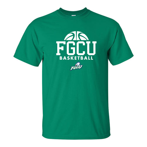 Florida Gulf Coast University Eagles Basketball Hype Short Sleeve T Shirt - Kelly Green