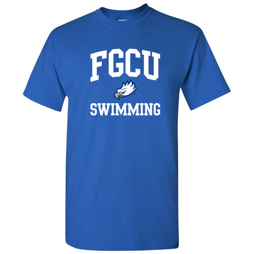 Florida Gulf Coast University Eagles Arch Logo Swimming Short Sleeve T Shirt - Royal
