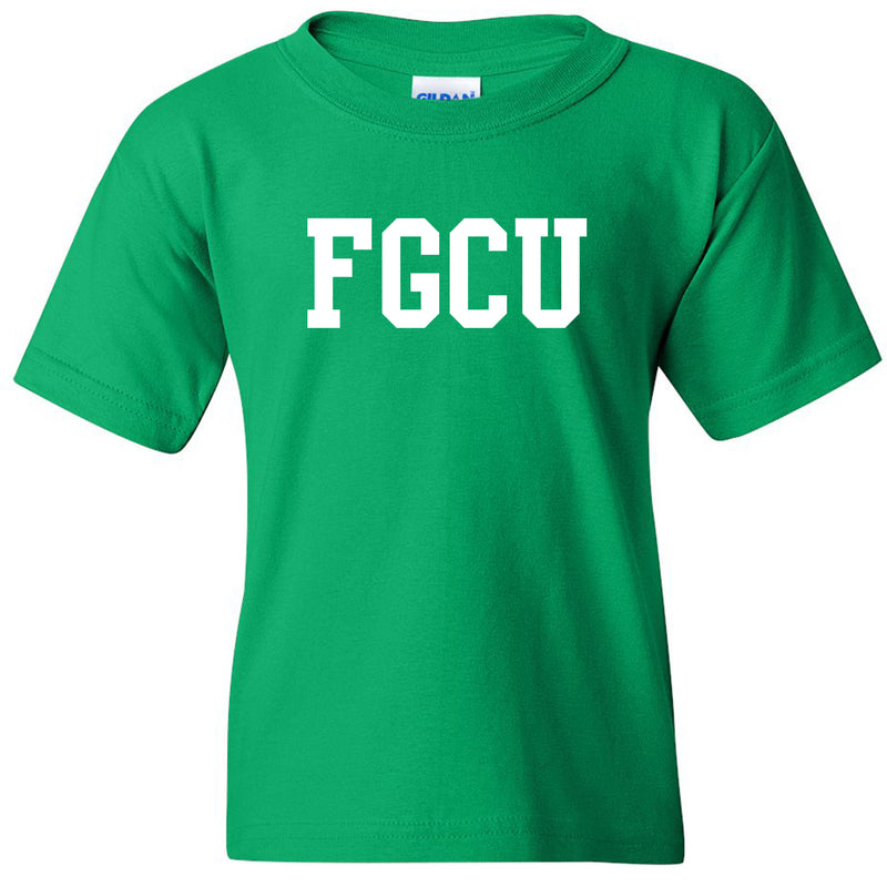 FGCU Basic Block Youth T Shirt - Kelly Green