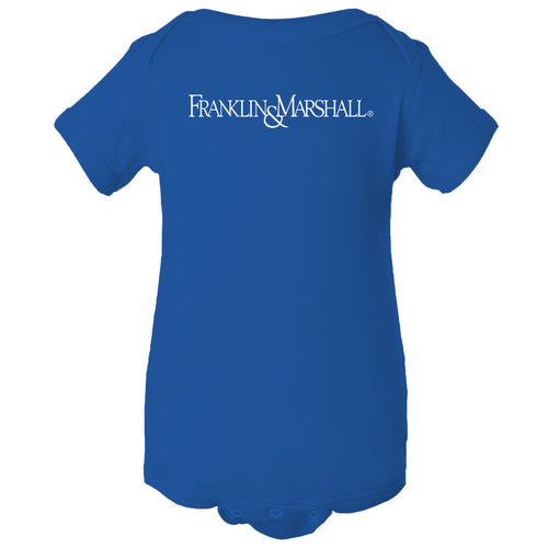 Franklin & Marshall College Diplomats Basic Block Onesie - Royal