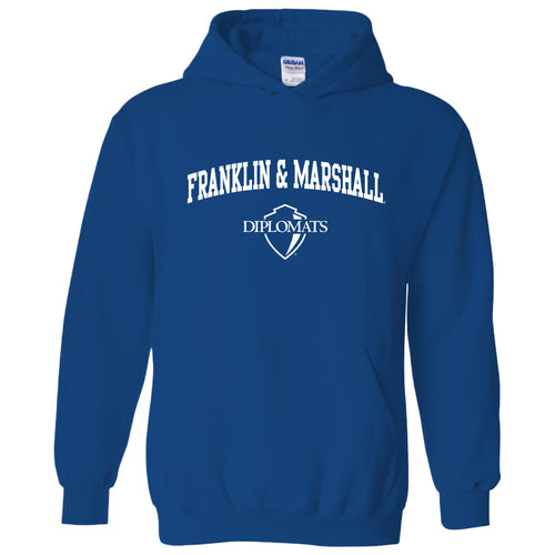 Franklin & Marshall College Diplomats Arch Logo Hoodie - Royal
