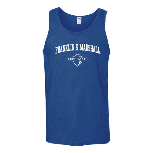 Franklin & Marshall College Diplomats Arch Logo Tank Top - Royal