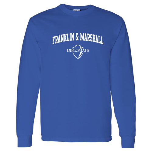 Franklin & Marshall College Diplomats Arch Logo Long Sleeve - Royal