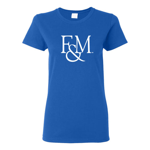 Franklin & Marshall College Diplomats Primary Logo Womens T Shirt - Royal