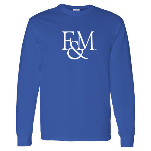 Franklin & Marshall College Diplomats Primary Logo Long Sleeve - Royal