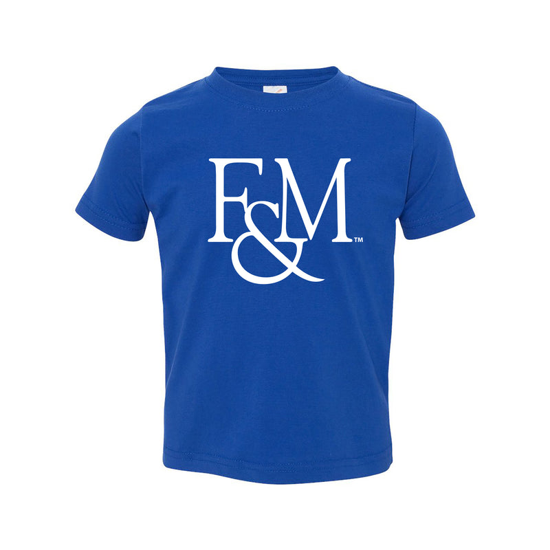 Franklin & Marshall College Diplomats Primary Logo Toddler T Shirt - Royal