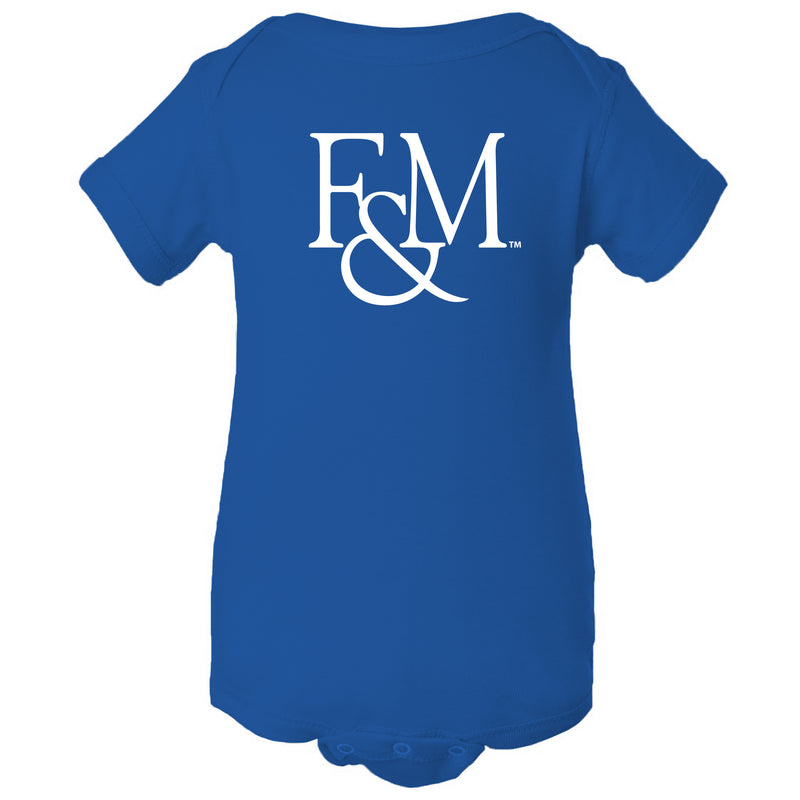 Franklin & Marshall College Diplomats Primary Logo Onesie - Royal