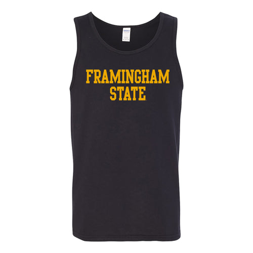 Framingham State University Rams Basic Block Tank Top - Black