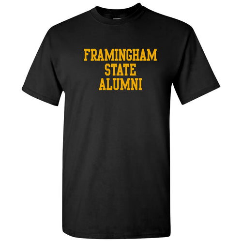 Framingham State University Rams Alumni Basic Block Short Sleeve T Shirt - Black
