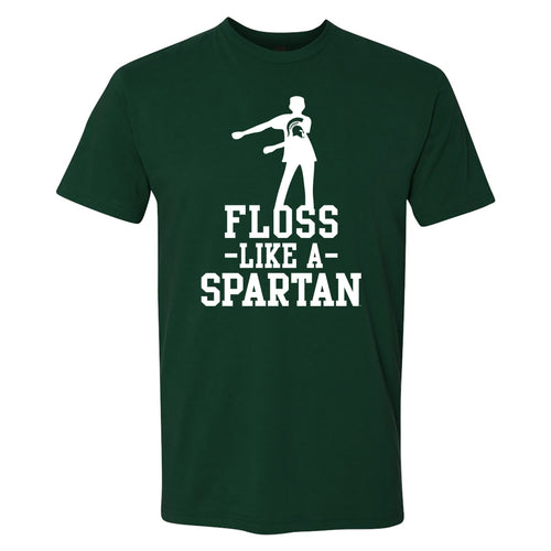 Michigan State University Spartans Floss Like a Spartan Next Level Short Sleeve T Shirt - Forest