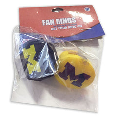 Foam Fanatics Ring Set - Navy/Maize
