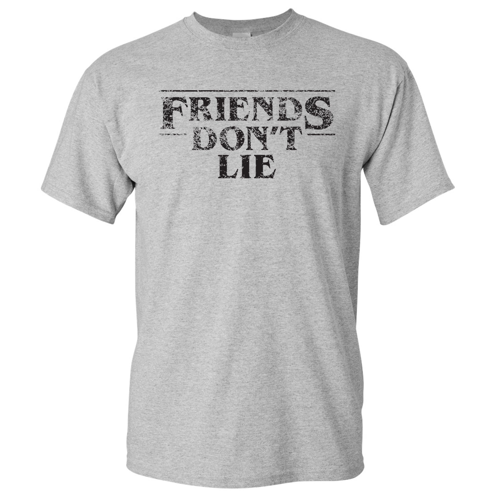 a71ad369 Friends Don't Lie - Stranger of Things - T-Shirt - Sports Grey