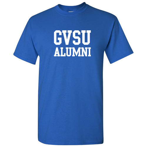 Grand Valley State University Lakers Alumni Basic Block T Shirt - Royal