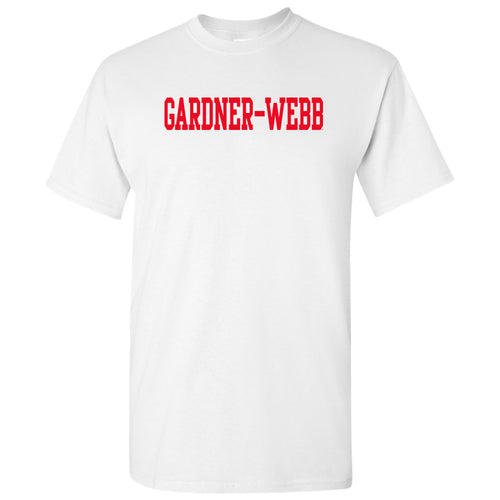 Gardner-Webb University Bulldogs Basic Block Cotton Short Sleeve T Shirt - White