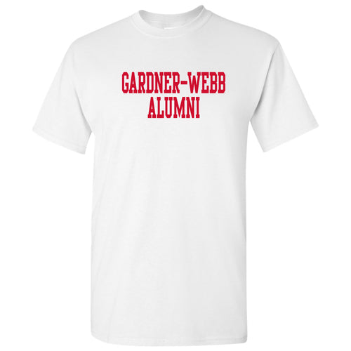 Gardner-Webb University Bulldogs Alumni Basic Block Cotton Short Sleeve T Shirt - White