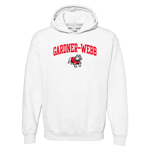 Gardner-Webb University Bulldogs Arch Logo Heavy Blend Hoodie - White