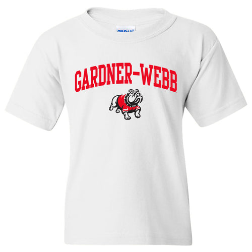 Gardner-Webb University Bulldogs Arch Logo Basic Cotton Short Sleeve Youth T Shirt - White