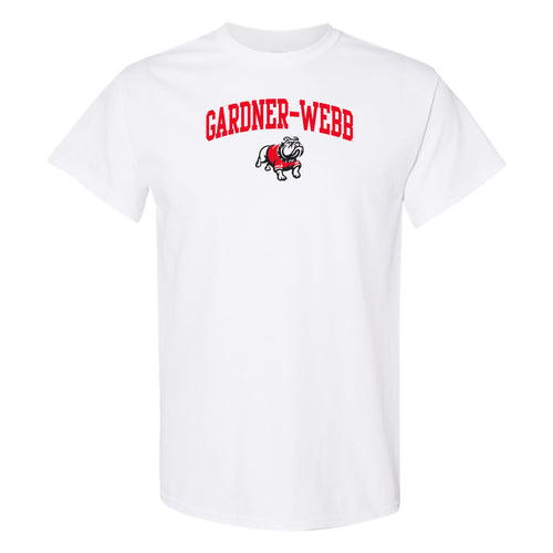 Gardner-Webb University Bulldogs Arch Logo Basic Cotton Short Sleeve T Shirt - White
