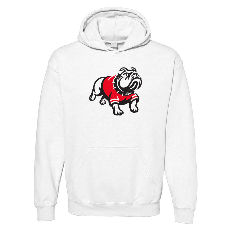Gardner-Webb University Bulldogs Primary Logo Heavy Blend Hoodie - White