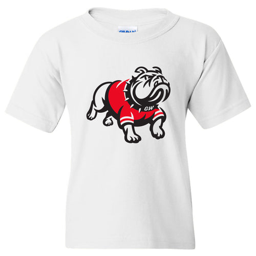 Gardner-Webb University Bulldogs Primary Logo Basic Cotton Short Sleeve Youth T Shirt - White