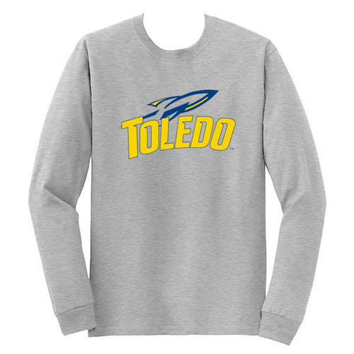 University of Toledo Rockets Athletic Mark Long Sleeve T-Shirt - Sport Grey