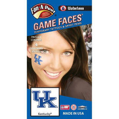 UK Fan-A-Peel Cheek Sticker 4-Pack