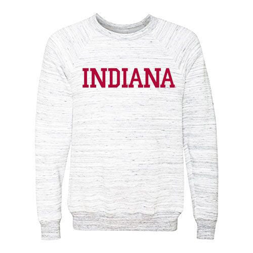 Indiana University Hoosiers Sponge Fleece Pullover Sweatshirt - Grey Marble
