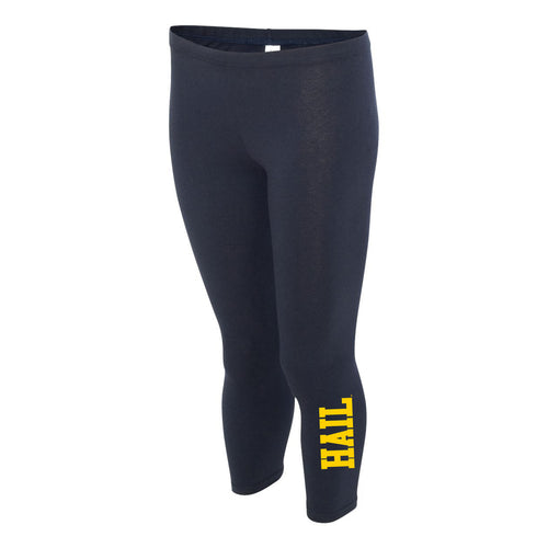 HAIL University of Michigan Boxercraft Women's Leggings - Navy