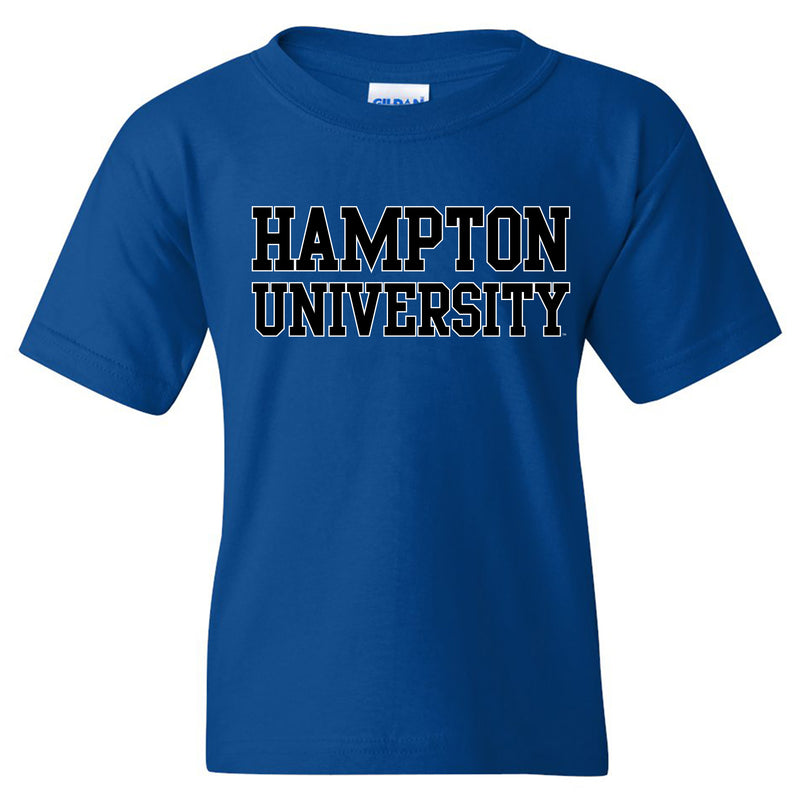 Hampton Basic Block Youth T Shirt - Royal