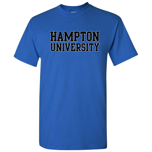 Hampton University Pirates Basic Block Short Sleeve T-Shirt - Royal