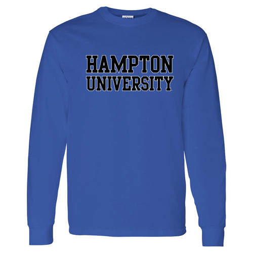 Hampton University Pirates Basic Block Long Sleeve T-Shirt - Royal