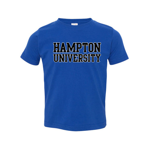 Hampton University Pirates Basic Block Toddler Short Sleeve T Shirt - Royal