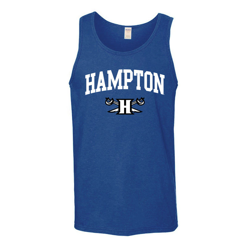 Hampton University Pirates Arch Logo Tank Top - Royal
